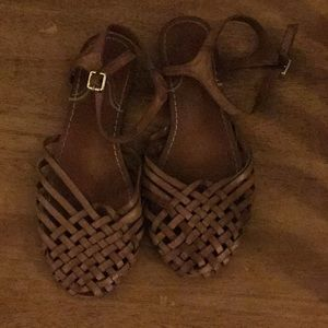 American eagle woven sandals brown 8